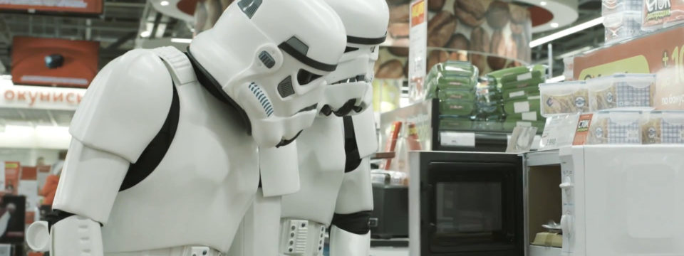 Shopping with Stormtroopers